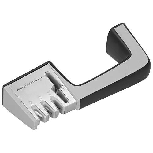 Mxzzand Aiguiseur de Couteaux Ergonomique aiguiseur de Couteaux Manuel en Acier Inoxydable Portable 4 en 1 affûteur de Couteaux broyeur de Couteaux ustensiles de Cuisine