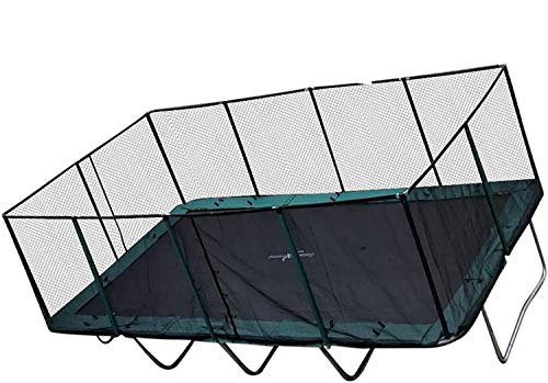 Happy Trampoline - Gymnastic Outdoor Adults Kids Rectangle Trampoline with Net Enclosure - High Performance Commercial...