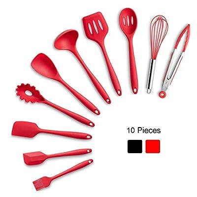 Junya 10pcs Cooking Utensils Set,Silicone Kitch...