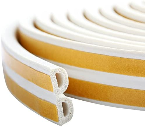 PRUGNA 20Ft Door Seal Weather Stripping Window Rubber Seal Strip Self Adhesive Foam Tape for product image