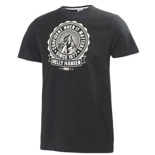 Helly Hansen Graphic SS T-Shirt manches courtes homme Noir FR : M (Taille Fabricant : M)