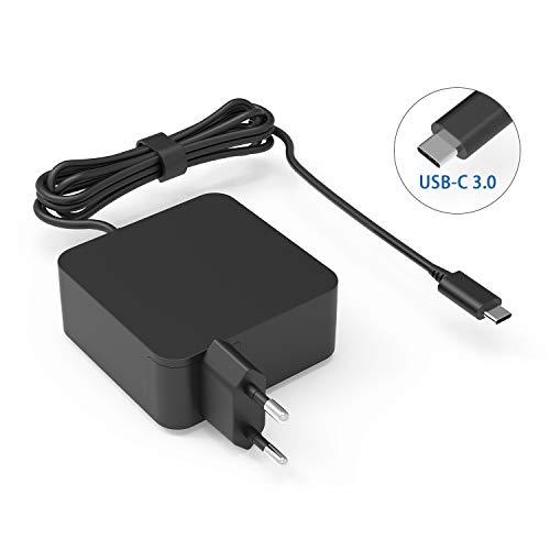 65W USB C Netzteil Type C AC Adapter PD Netzteil, Notebook Ladegerät für hp Chromebook 13 G1; Chromebook x360 11 G1 EE; Elite x2 1012 G1 Tablet; X2 210 G2 Abnehmbare PC