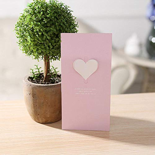 XCVB greeting card Invitation Greeting Cards Anniversary for Her Love 3D Heart Cards Postcard and Stickers Wedding,A,5PCS