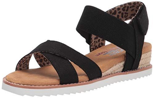 Skechers Bobs Desert Kiss - Secret Picnic Sandal, Black, 6