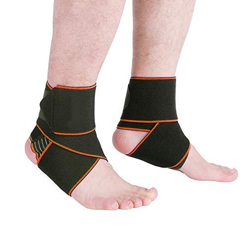 SUI-lim 2 Pcs Sprunggelenk Bandage, Bandage für achillessehne, Knöchelbandage Fußbandage Sprunggelenkbandage, für Sport Fitness, Gelenkschmerzen, Verstauchungen, Bandschäden, Knöchel Schutz(Orange)