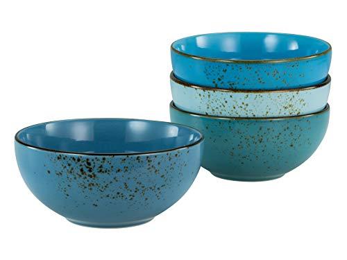 Creatable, 23431 Serie Nature Collection Aqua Buddhabowl - Vajilla (4 piezas, cerámica), diseño de buddhabowl