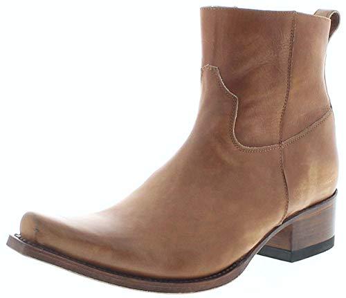 Sendra laarzen mannen enkellaarzen 12322 Lavado 023 leren laarzen bruin, 023 Lavado, 48 EU