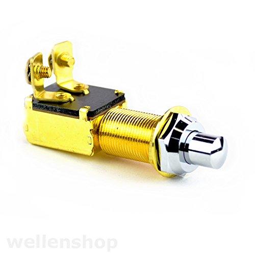 Culver 12 Volt Druckschalter Messing Tastschalter Metall Hupenknopf Schalter Hupe Drucktaster