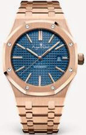 GFDSA Automatische horloges Luxe merk Herenhorloge Roestvrij staal Automatisch mechanisch Volledig zwarte kast Roségoud Blauw Limited Royal Sapphire Glass Oaks