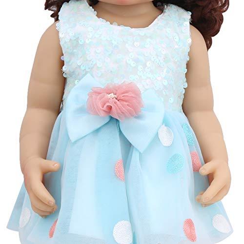 Yeelur Muñeca de Pelo Rizado, muñeca Reborn, Vinilo de Silicona Suave Realista 55cm para niñas