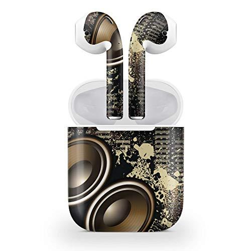 Skins4u Design Aufkleber Schutzfolie Vinyl Skin kompatibel mit Apple AirPods 1G Subwoofer