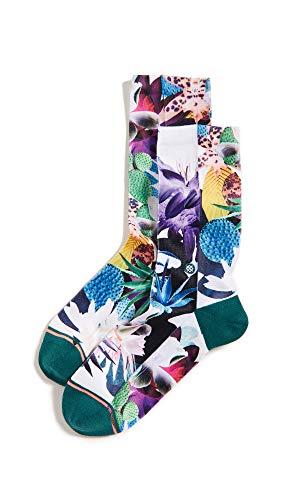 Stance Damen Hippie Moshpit Crew Socken, Green, M