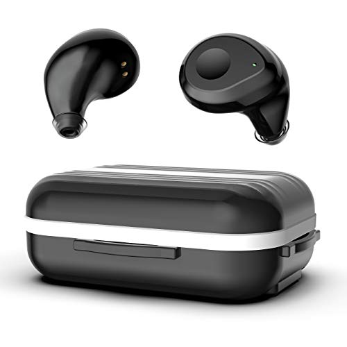 Wireless Earbuds with Charging Case, OLHTJS Bluetooth 5.0 Wireless Headphones Earbuds Noise Canceling Waterproof Sport Earphones 35H Playtime Cycling Bluetooth Headset for iPhone and Android (Black)