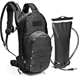 Tactical Molle Hydration Pack Backpack with 3L Water Bladder. Lightweight & Durable Military Daypack...