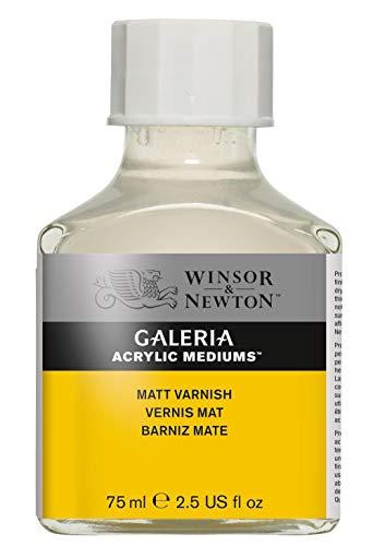 Winsor & Newton 3022802 Galeria Matter Firnis, 75 ml Flasche, matte Schutzschicht auf Acrylbildern