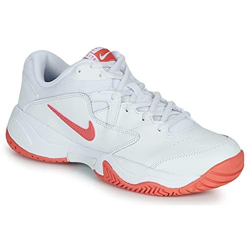 Nike Nikecourt Lite 2, Zapatos de Tenis Mujer, White Pink Salt, 39 EU
