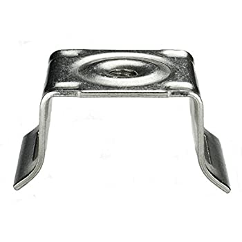 ISO SB022 Stainless Steel Bull s Eye Sign Mounting Brackets Flared Leg w/no Bolt or Washer 50 per Box