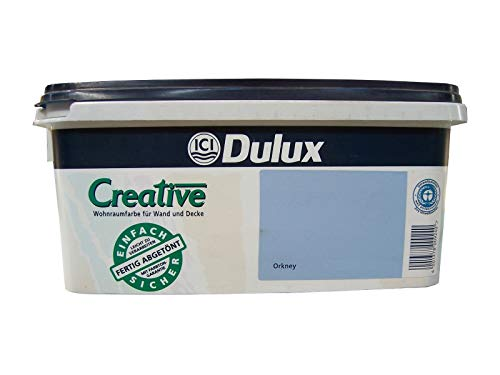 2,5 Liter DULUX Quick 'n' Easy Wandfarbe Orkney Seidenglanz Dispersionsfarbe