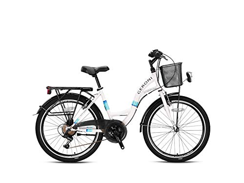 Geroni Sirio Damenfahrrad Mädchen City Fahrrad Rad Hollandrad 21 Gang 24
