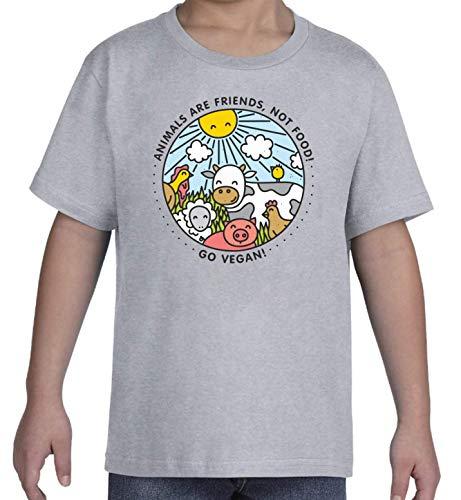 Iprints Animals Are Friends Not Food Vegan Vegetarian Kid's T-Shirt