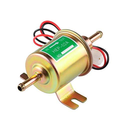 CAIZHIXIANG Accesorios de modificación del Coche Hep-02A Bomba electrónica de Aceite Bomba electrónica de Combustible 12V 24V Bomba electrónica de Diesel (Color : Oro, Size : 24V)