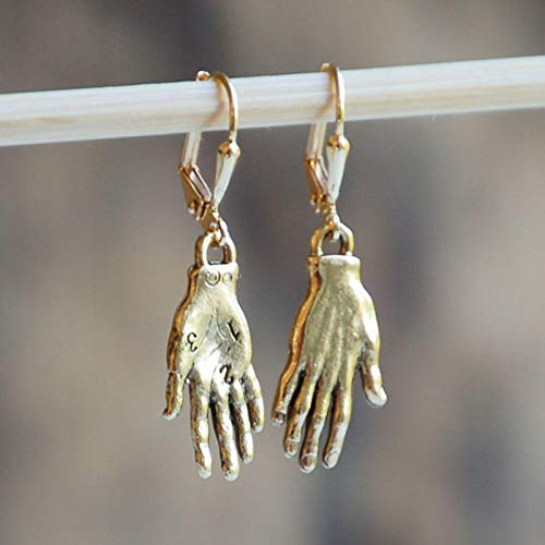 Earings Holiday Hand Shaped Dangle Earrings For Women Bohemian Vintage Plam Hook Earrings Brincos gold