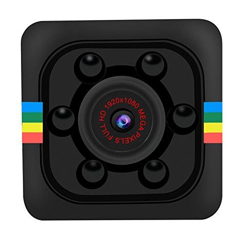 RAPG Mini Cámara SQ11 Inalámbrica Oculta 960P Full HD Portátil Mini Visión Nocturna Y Detección de Movimiento Cámaras de Seguridad para Drone FPV Vigilancia en Casa Y Oficina