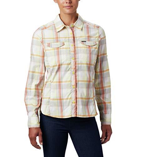 Columbia Women's Silver Ridge Lite Plaid Long Sleeve Shirt, Buttercup Medium Multi Plaid, Large