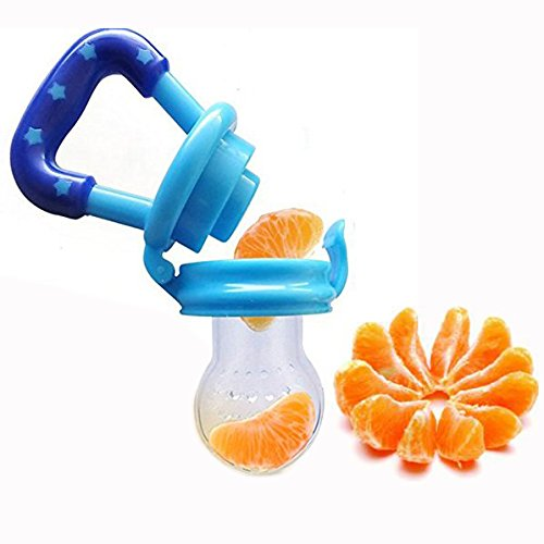 DMZK 1 Pcs Bébé Tétine Sucette Biberon Grignoteuse Silicone, Ajouter de la Nutrition des...