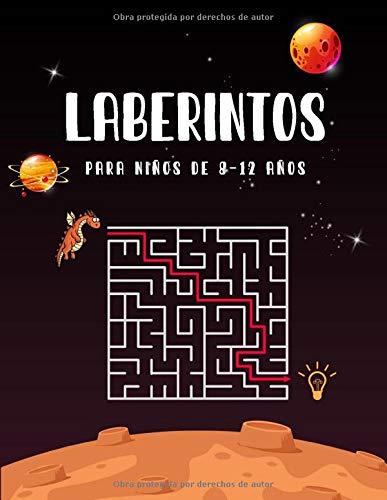 Laberintos Para Niños de 8-12 Años: Laberinto libro de actividades para niños,Libro de rompecabezas de laberinto para niños de 8 a 12 años,Divertidos ... para niños juego de libro de actividades