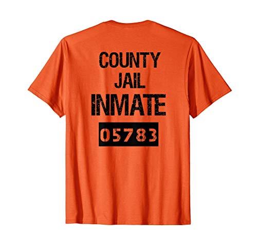 Disfraz de prisionero Preso de la cárcel condado Halloween Camiseta