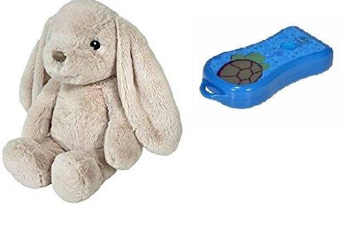 cloud b Bunny - Nachtlicht und Kuschelhase mit Gratis Taschenlampe in blau,
