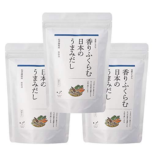 発酵のちから 香りふくらむ日本のうまみだし だしパック 無添加 キッコーマン こころダイニング (だし3袋)