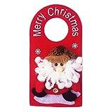 CAOLATOR Colgante Muñeca Signo de Puerta Navidad Romántico Suspensión para DIY Decoración de Muñequita Navideña Accesorios-Anciano