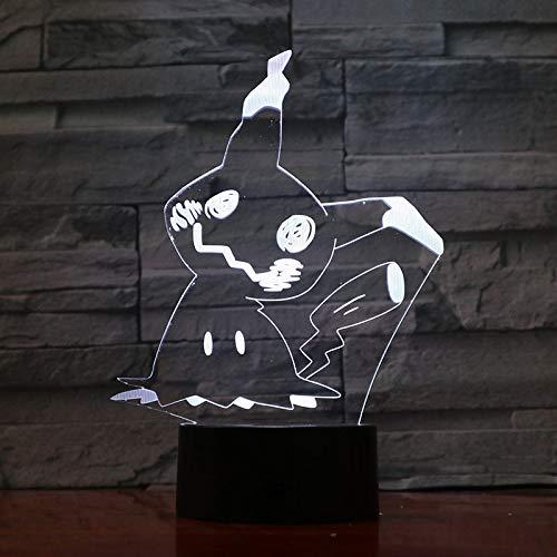 Nur 1 Mimikyu Jigglypuff Snorlax Arcanine Espeon Magikarp Schnurrbart Prinplup Lugia Cartoon 3D Lampe LED Cooles Nachtlicht