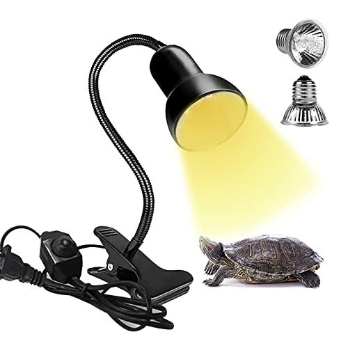 SMILETAG 거북이 열 램프 25W + 50W 파충류 열 램프 UVA + UVB BASKING LIGHT REPTILES E27 클램프 수족관 도마뱀 거북이 뱀을위한 히트 스포트 라이트