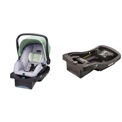 Evenflo LiteMax 35 Infant Car Seat with LiteMax Infant Car Seat Base, Black