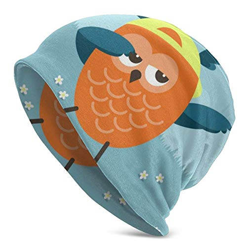 XCNGG Cute Owl Dabbing Unisex Hombres Mujeres Beanie Hat Cálido Sombrero al Aire Libre Skullies Beanies Chemo Hat