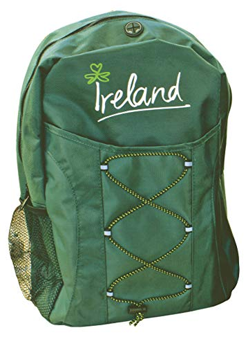 Green Backpack With Ireland Design Expandable Ropes For More Storage