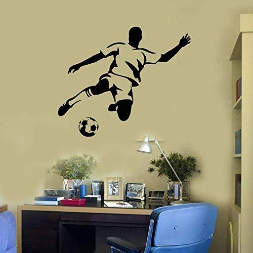 mlpnko Fußballspieler Wandtattoo Sport Kid Boy Zimmer Park Stadion Vinyl Wanddekoration,CJX13853-42x51cm