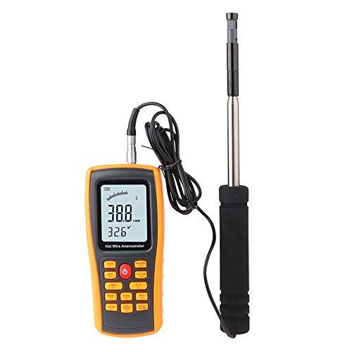 Dorling Kindersley Multimedia - DK velocità del Vento, anemometro Portatile Digitale LCD da 2,6 Pollici LCD, 0~30ms termometro 0~45C misuratore di Portata del Vento con USB