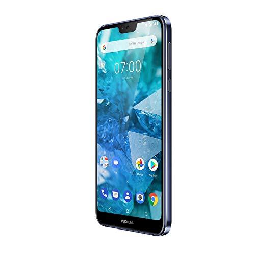 Nokia 7.1 Dual Sim Smartphone (5,84 Zoll Full HD Display, 32 GB interner Speicher, Android 8.1   Blau