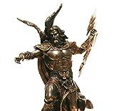 Veronese - Estatua del Rey Griego Zeus Júpiter Thunder con acabado de bronce de 11.5 pulgadas