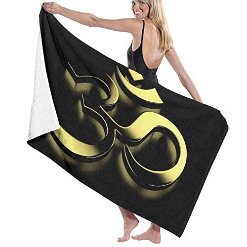 XCNGG DSymbol1 Beach Towels Microfiber Super Soft Absorbent Blanket for Adults Women Men