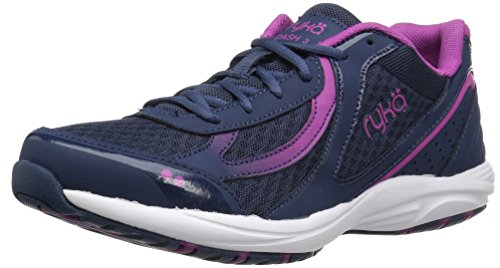 Ryka Women's Dash 3 Walking Shoe, Navy/Pink, 6 M US