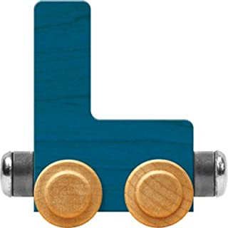 NameTrain Bright Letter Car L - Made in USA (Blue)