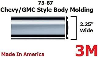1973-1987 Chevy GMC Chrome Side Body Trim Molding Full Size Pickup Truck - 2.25