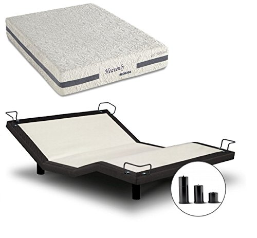 Fantastic Prices! iDealBed Heavenly Hybrid Mattress Reverie 5I Adjustable Bed Set, Split King