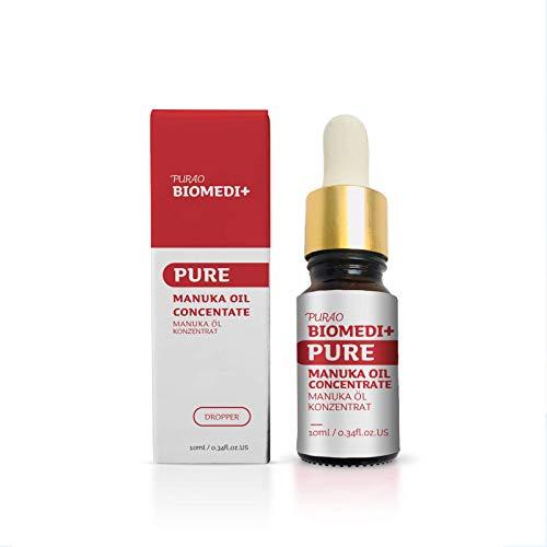 PURAO BIOMEDI+ 100{de0b68335d9c4cc91e4cdbf4dcf602917b628ee682316fa0288ddf6e122ad92f} Manukaöl - naturreines Konzentrat für leichtere und chronische Hautkonditionen