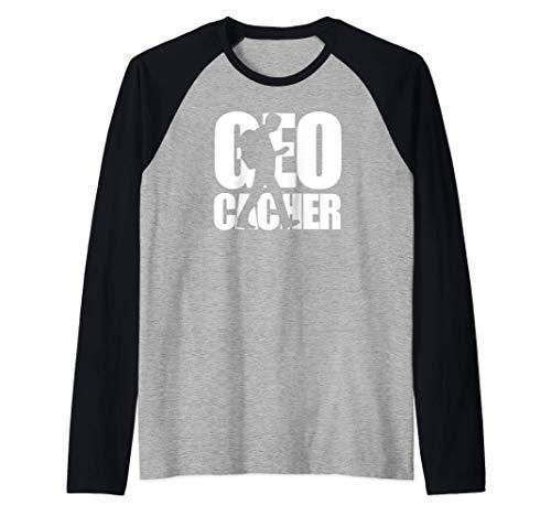 Geocacher Hiking And Adventure Camiseta Manga Raglan